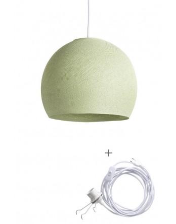 Cotton Ball Lamp Wandering driekwart poedergroen