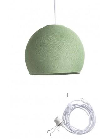 Cotton Ball Lamp Wandering driekwart sage green