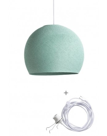 Cotton Ball Lamp Wandering driekwart sea green