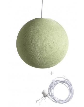Cotton Ball Lamp Wandering rond poedergroen