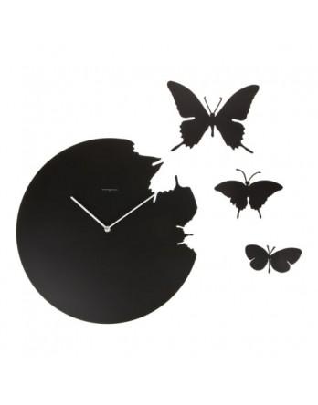 Diamantini & Domeniconi wandklok Butterfly - zwart