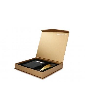 Garzini giftbox Magic Wallet - Carbon Black en schoenlepel