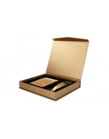 Garzini giftbox Magic Wallet - Camel Bruin en schoenlepel