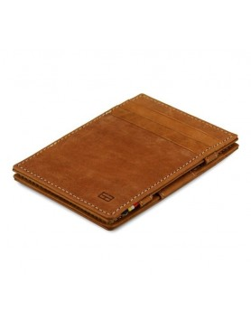 Garzini RFID Magic Wallet Leder - Camel Bruin