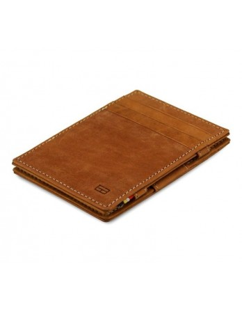 Garzini RFID Magic Wallet Leder - Camel Bruin