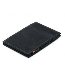 Garzini RFID Magic Wallet Leder - Carbon zwart