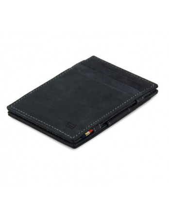 Garzini RFID Magic Wallet Leder - Carbon zwart