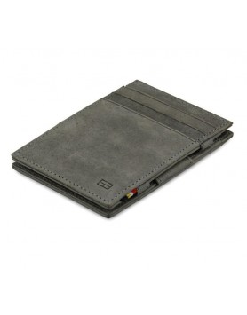 Garzini RFID Magic Wallet Leder - Grijs