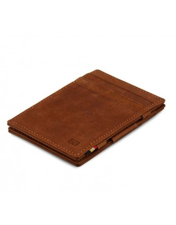 Garzini RFID Magic Wallet Leder - Java Bruin