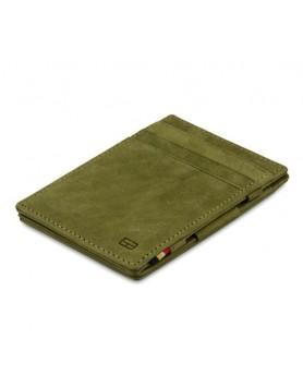 Garzini RFID Magic Wallet Leder - Olijfgroen