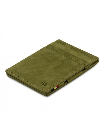 Garzini RFID Magic Wallet Leder - Olijfgroen