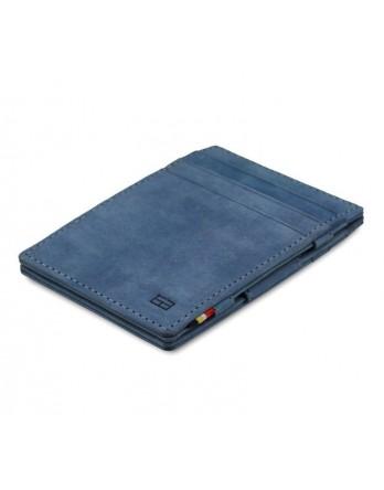 Garzini RFID Magic Wallet Leder - Sapphire blauw