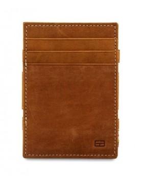 Garzini RFID Magic Wallet Leder + muntvak - Camel