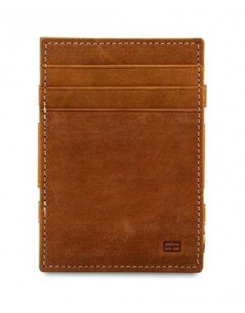 Garzini RFID Magic Wallet Leder + muntvak - Camel