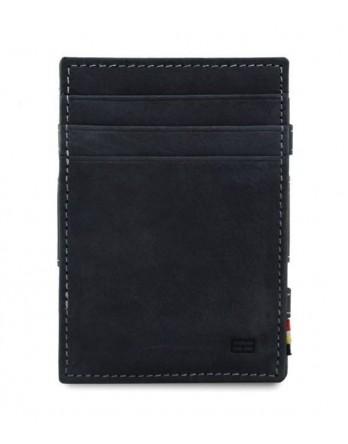 Garzini RFID Magic Wallet Leder + muntvak - Zwart