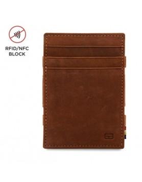 Garzini RFID Magic Wallet Leder + muntvak  Java Bruin