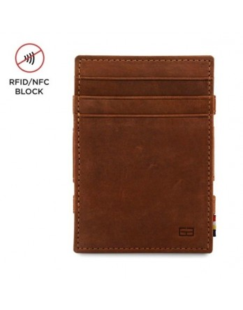 Garzini RFID Magic Wallet Leder + muntvak  Java Bruin