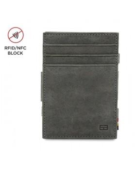 Garzini RFID Magic Wallet Leder + muntvak - Grijs