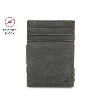 Garzini RFID Magic Wallet Leder + muntvak - Grijs