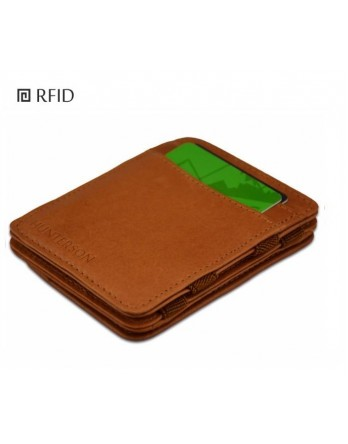Hunterson Coin Wallet RFID Portefeuille muntvak cognac