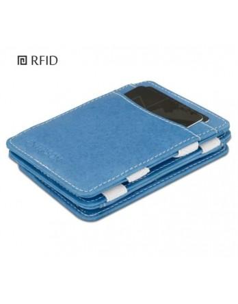 Hunterson Coin Wallet RFID Portefeuille muntvak azur wit