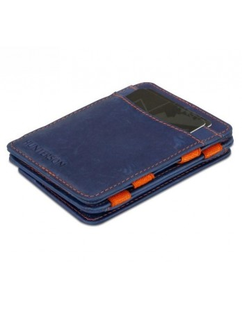 Hunterson Coin Wallet RFID Portefeuille munt bl/oranje