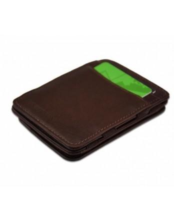 Hunterson Coin Wallet RFID Portefeuille muntvak bruin