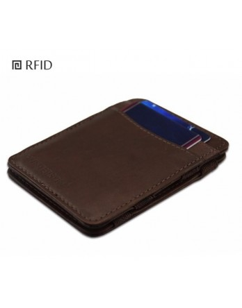 Hunterson Wallet classic bruin RFID Portemonnee