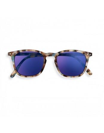 IZIPIZI #E SUN zonnebril blauwe schildpad spiegel