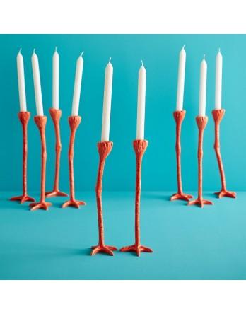 Jasmin Djerzic Long Legs Kandelaar Set van 2 - oranje