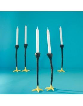 Jasmin Djerzic Long Legs Kandelaar 2st - zwart / geel