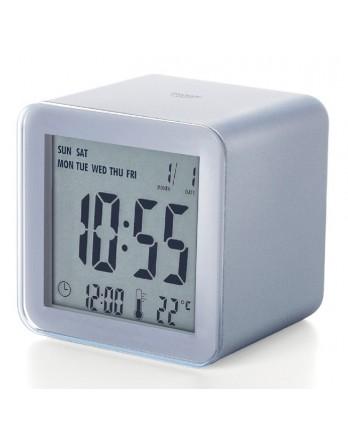 LEXON Cube sensor LCD wekker - aluminium
