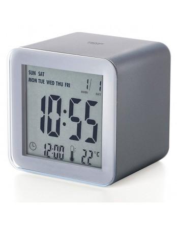 LEXON Cube sensor LCD wekker - grijs