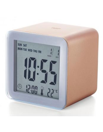LEXON Cube sensor LCD wekker - koper