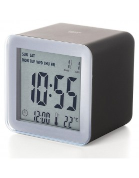 LEXON Cube sensor LCD wekker - zwart