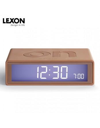 LEXON Flip digitale wekker on/off - koper