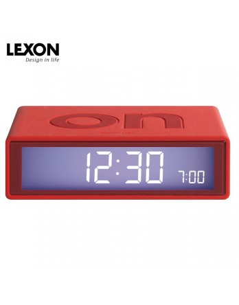 LEXON Flip digitale wekker on/off - rood