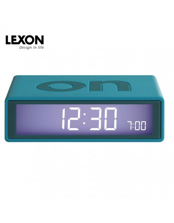 LEXON Flip digitale wekker on/off - eendeblauw