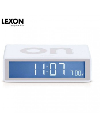LEXON Flip digitale wekker on/off - wit