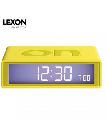 LEXON Flip digitale wekker on/off - geel