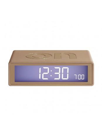 LEXON Flip digitale wekker on/off soft gold