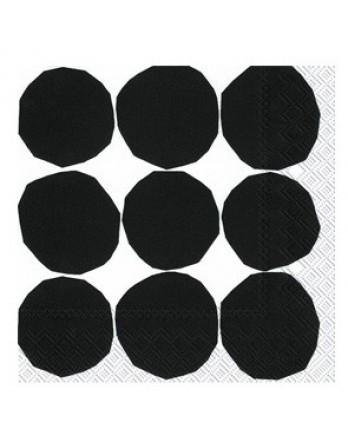 Marimekko papieren servet Kivet zwart / wit