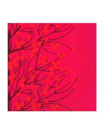 Marimekko papieren cocktail servet Lumimarja rood