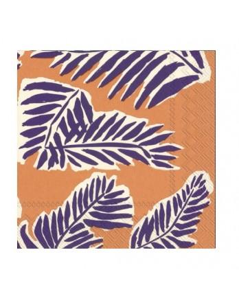 Marimekko papieren servet Babassu cocktail paars