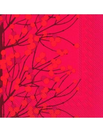 Marimekko papieren servet Lumimarja rood