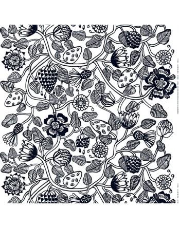 Marimekko papieren servet Tiara zwart / wit