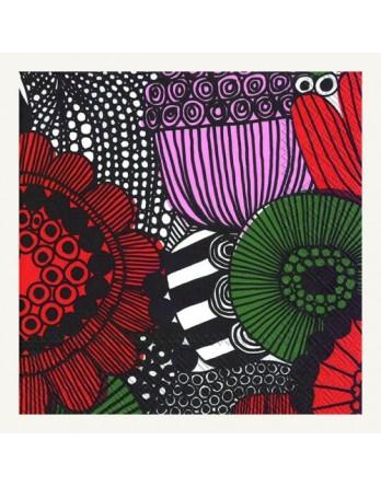 Marimekko papieren servet Siirolapuutarha rood