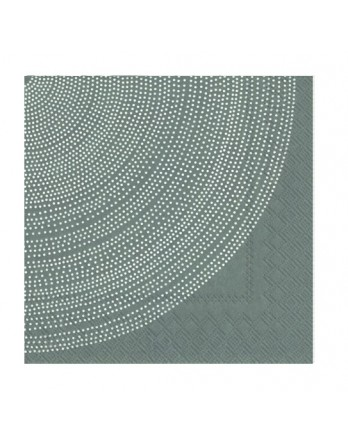 Marimekko papieren cocktail servet Fokus grijs