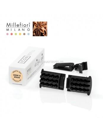 Millefiori Auto navulling Legni & Spezie 2stuks