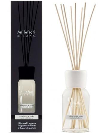 Millefiori Milano geurstokjes White Mint en Tonka 250ml